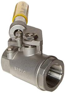 "Apollo 9.5mm (3/8"") FNPT Spring Operated SS Ball Valve"