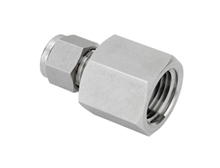 "Tube Fitting Female Connector 1"" Tube x 1"" BSPT T316"